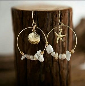 Jewelry - Seashore Dangle Earrings, Artisan-Made in USA